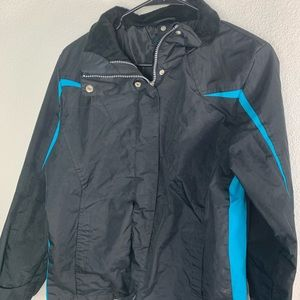 Faded Glory 4-6  Black Blue Ski Jacket